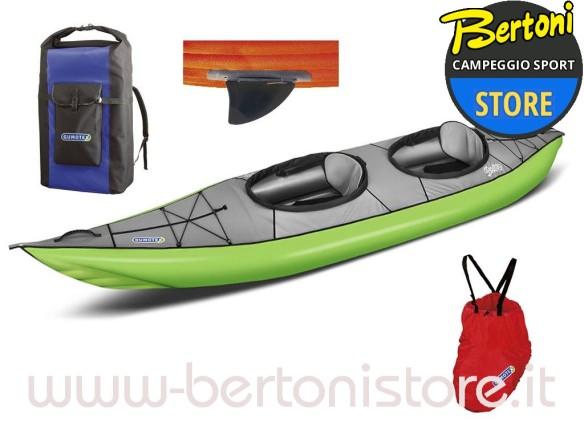 Swing 2 Verde Set Kayak Gonfiabile con Pinna 043912-V (1C/11C) GUMOTEX
