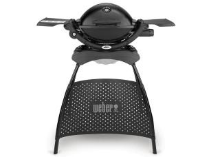 Barbecue a Gas Q 1200 Black Stand (Attacco Cartuccia) 51010353 WEBER