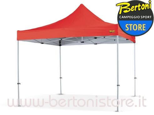Gazebo Campeggio Pieghevole.Bertoni Market 3x3 Plus Tetto Rosso Gazebo Pieghevole Automatico
