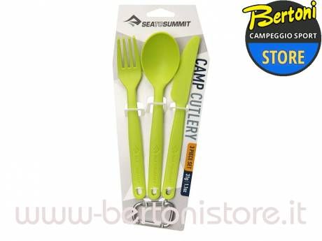Set Psate Camp Cutlery Lime ACUTLLI SEA TO SUMMIT