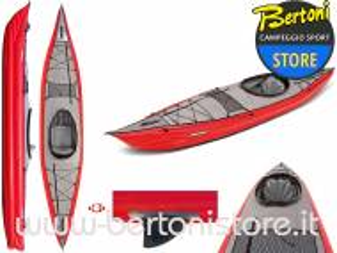 Canoa Gonfiabile Framura Rossa con Pinna 045220-R (5C/11C) GUMOTEX