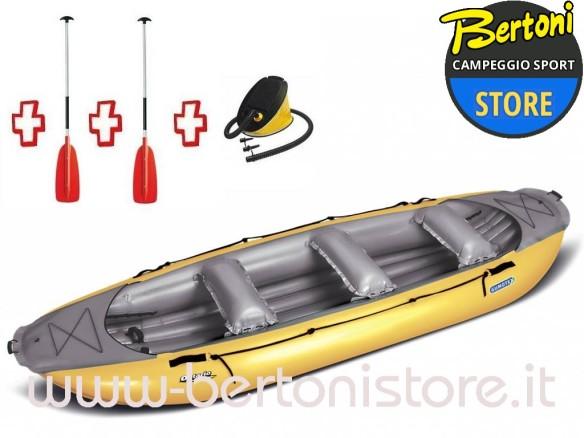 Gommone Gonfiabile Rafting Ontario 420 Arancio (3C/11C) 044005-O + 1 Pompa + 2 Remi GUMOTEX