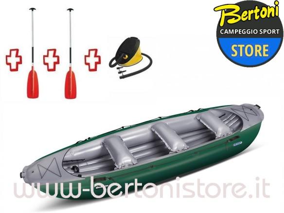 Gommone Gonfiabile Rafting Ontario 420 Verde 044005-G (13/11C) + 1 Pompa + 2 Remi GUMOTEX