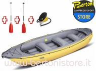 Gommone Gonfiabile Rafting Ontario 450S Giallo 044002-Y (2A/11C) + 1 Pompa + 2 Remi GUMOTEX