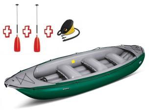 Gommone Gonfibile Rafting Ontario 450S Verde 044002-G (13C/11C) + 1 Pompa + 2 Remi GUMOTEX