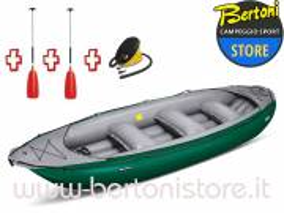 Gommone Gonfiabile Rafting Ontario 450S Verde 044002-G (13C/11C) + 2 Remi + Pompa GUMOTEX