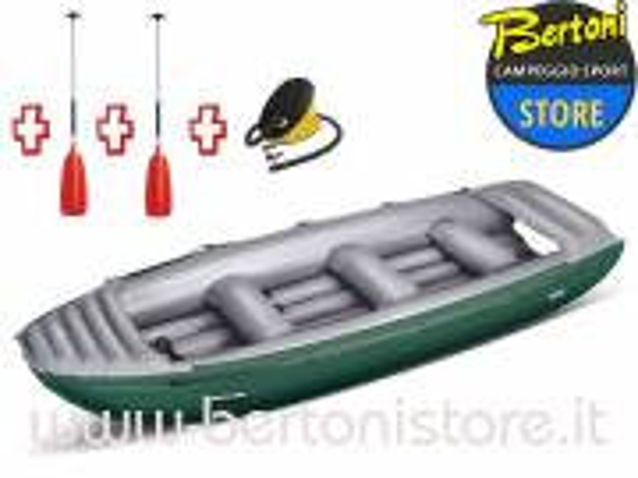 Gommone Rafting Gonfiabile Colorado 450 Verde 043883-G (13/11C) + 1 Pompa + 2 Remi GUMOTEX