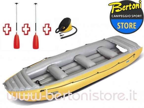 Gommone Rafting Gonfiabile Colorado 450 043883-O (3C/11C) + 1 Pompa + 2 Remi GUMOTEX