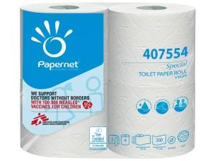 Papernet 407554 Cartone 4 rotoli carta igienica pura cellulosa 55 m