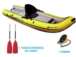 Canoa Gonfiabile con Pompa + Pagaia Divisibile Reef 240 SEVYLOR