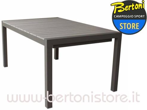 Tavolo Alluminio Stresa 162/242 x 100 cm BERTONI