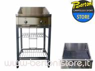 Barbecue a Gas in Acciao 60 cm Standard BQ60S+RPIT SMEG