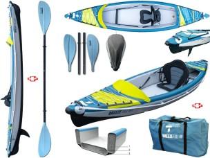 Canoa Gonfiabile Air Breeze Full HP 1 107183 + Pagaia Touring-4 div. in 4 parti BIC SPORT - TAHE