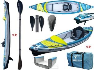 Canoa Gonfiabile Air Breeze Full HP 1 107183 + Pagaia Pro Carbon-4 div. in 4 parti BIC SPORT - TAHE