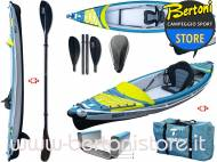 Canoa Gonfiabile Air Breeze Full HP 1 107183 + Pagaia Pro Carbon-4 div. in 4 parti BIC SPORT