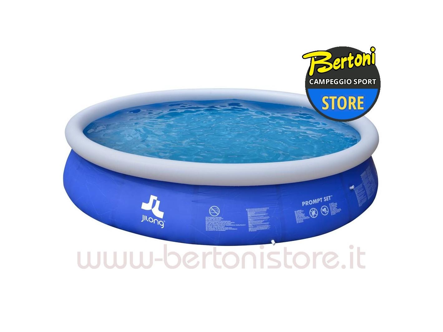 Piscina fuoriterra rotonda autoportante marine blue 420x84 for Piani fuoriterra fuori terra