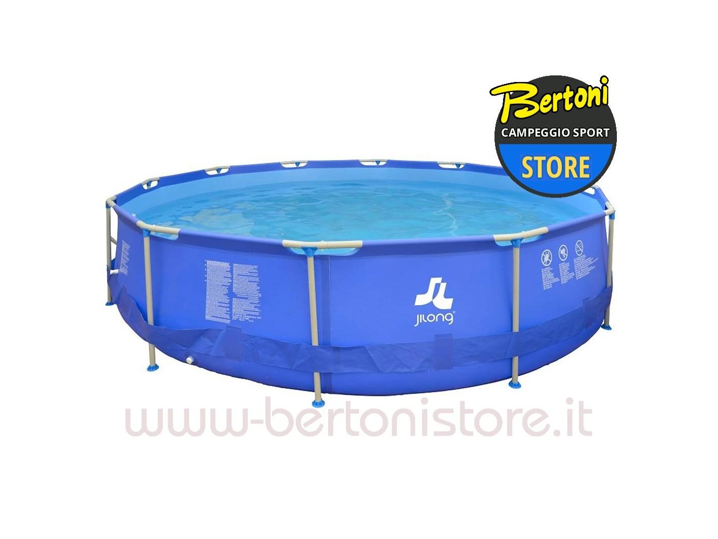 Piscina fuoriterra rotonda con struttura sirocco blue set - Occasioni piscine fuori terra ...
