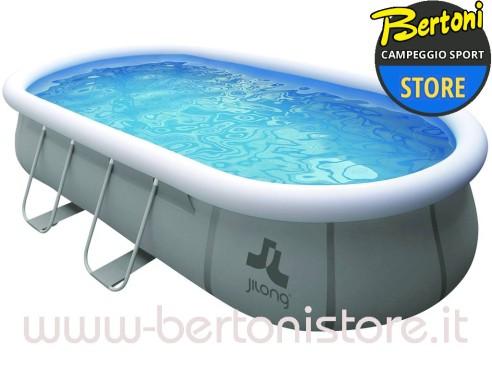 piscina fuoriterra ovale autoportante con struttura. Black Bedroom Furniture Sets. Home Design Ideas