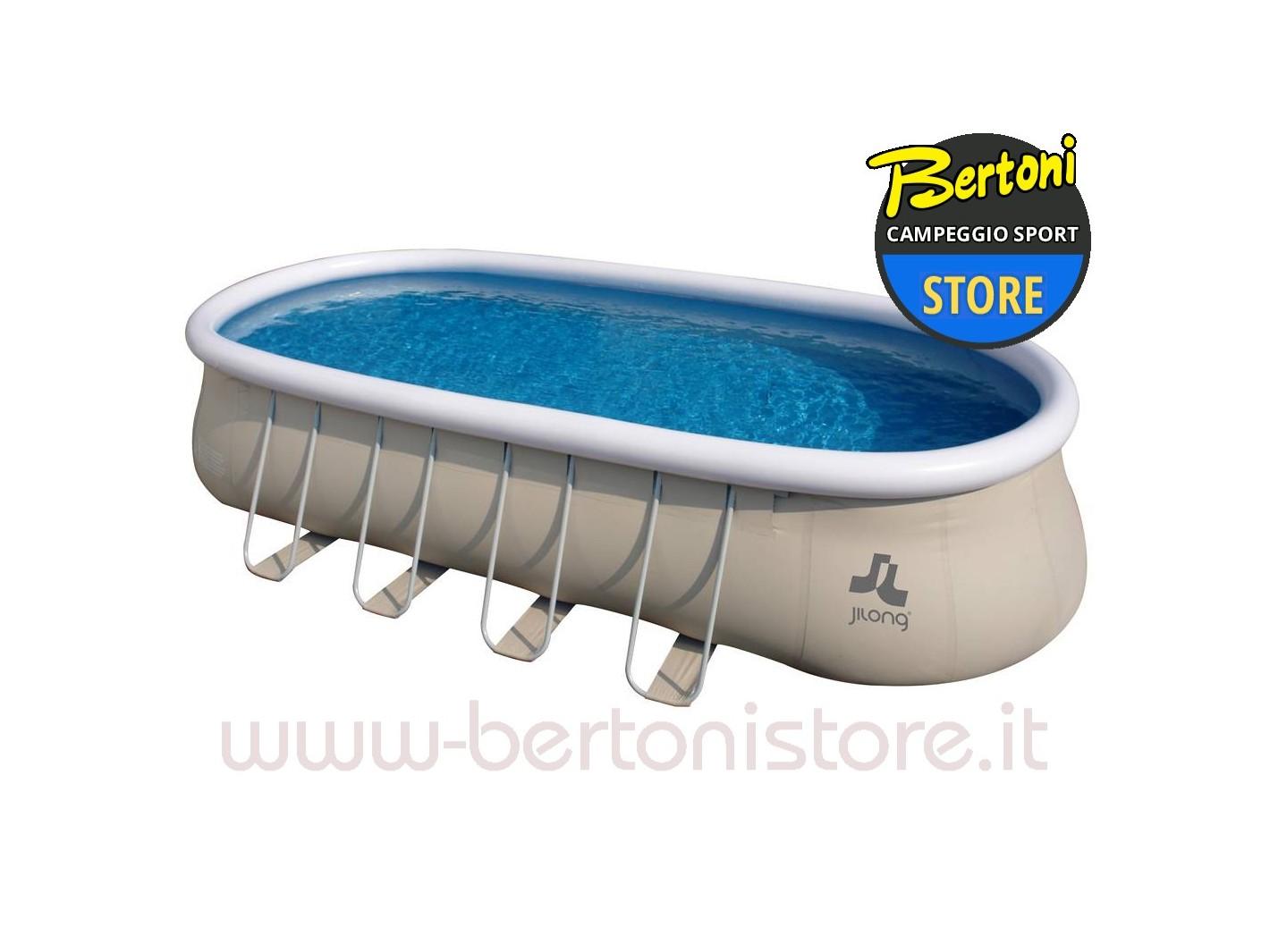 Piscina fuoriterra ovale autoportante con struttura - Occasioni piscine fuori terra ...
